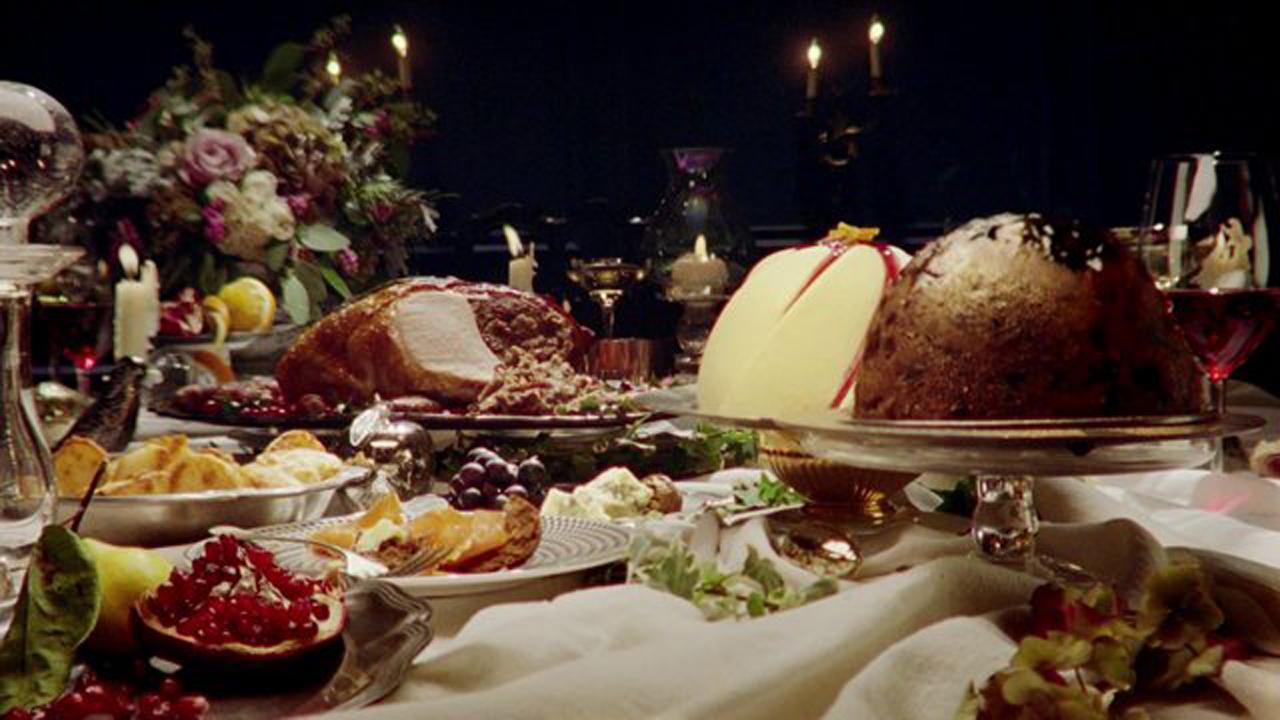 White apron marks and spencer - M S Christmas Dinner